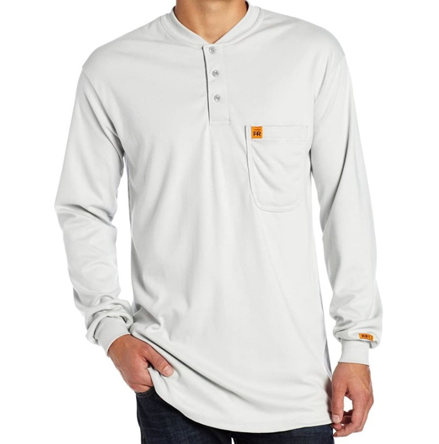 FR Long Sleeve Henley, Grey