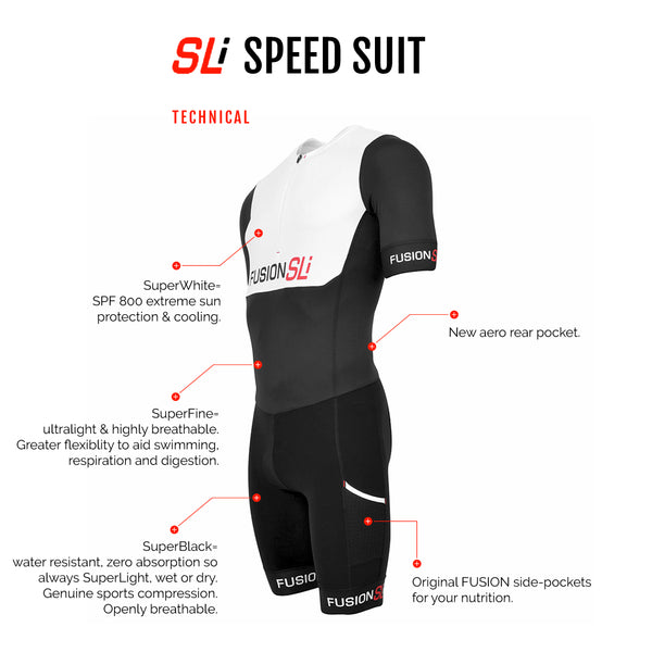 Fusion SLi Triathlon Speed Suit_Sleeved Tri Suit