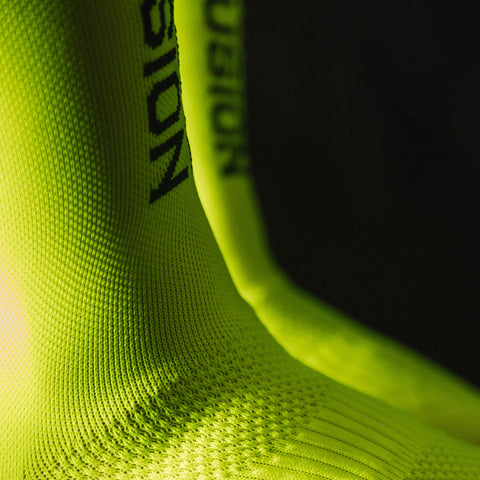 FUSION PWR Compression Socks with Coolmax_Cycling and Running_Colour: Yellow Neon