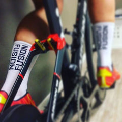 FUSION PWR Compression Socks with Coolmax_Cycling and Running_Action