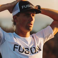 Fusion Trucker Cap_Black/White_Collection: Mens_Action