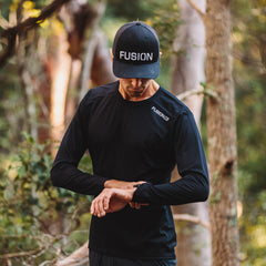 Fusion Trucker Cap_Black_Collection: Mens_Action
