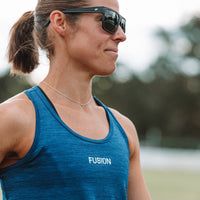 Fusion Womens C3 Singlet Training Racer Back_Action