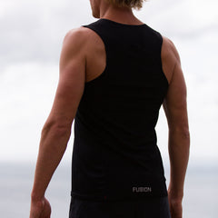 Fusion Mens C3+ Running Singlet_Colour: Black_Action