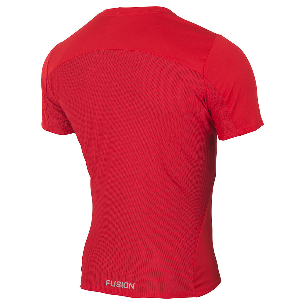 Fusion Mens C3+ Technical Running T-Shirt_Colour: Red