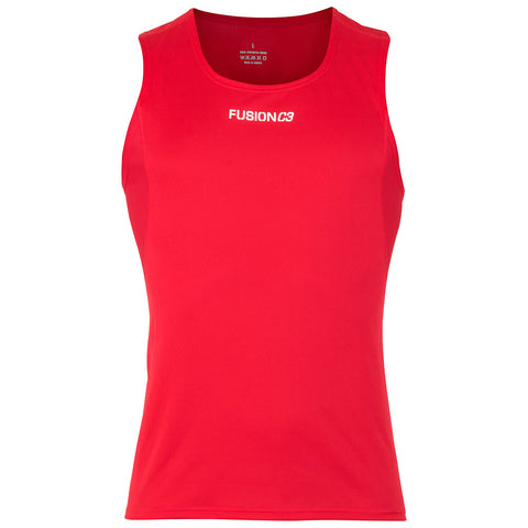 Fusion Mens C3 Running Singlet_Colour: Red