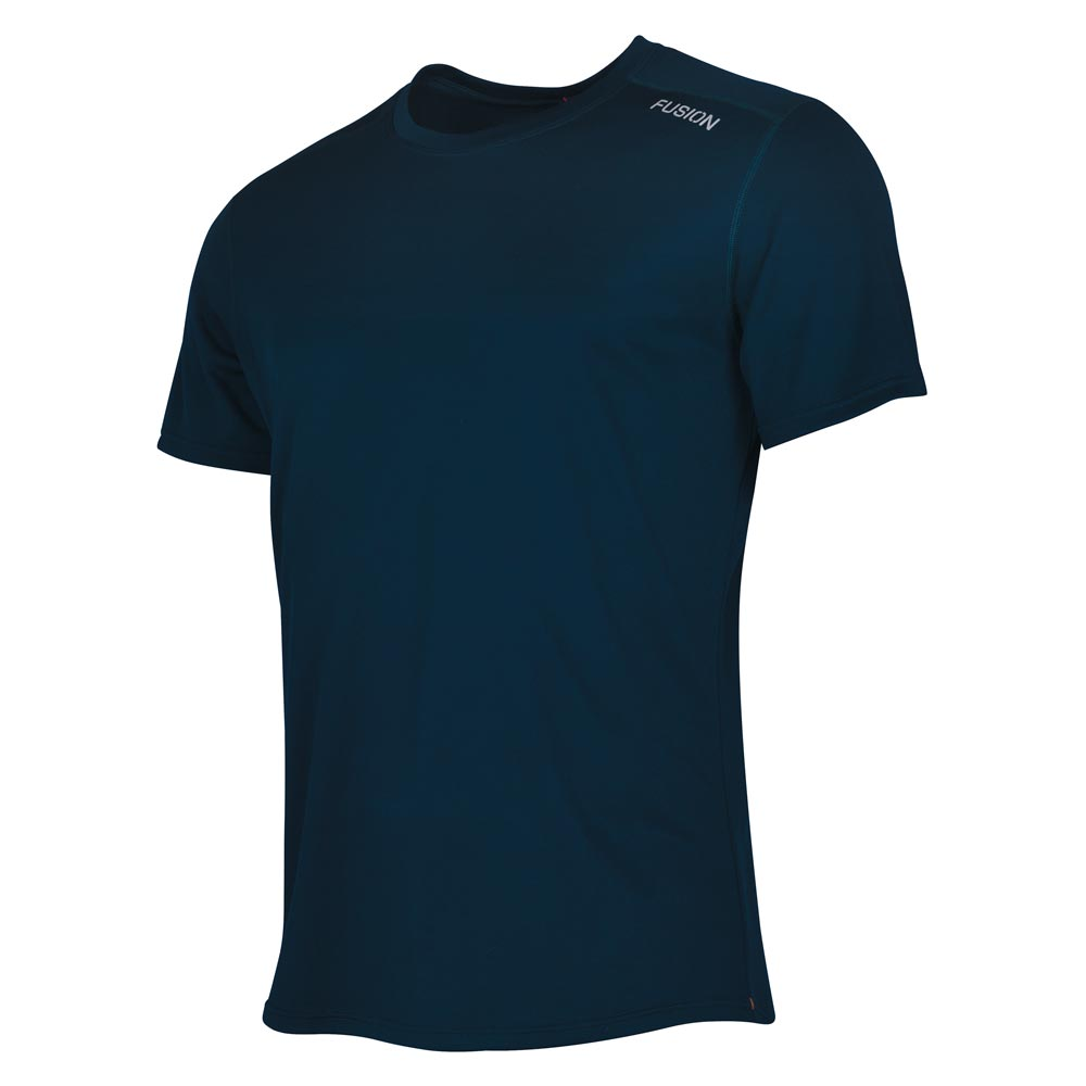 Fusion Mens Nova Technical Running T-Shirt_Colour: Black