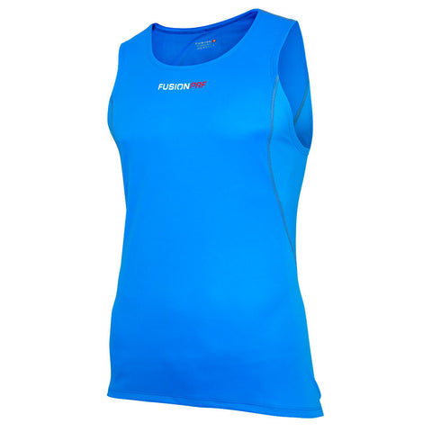 Fusion Mens C3 Running Singlet_Colour: Surf