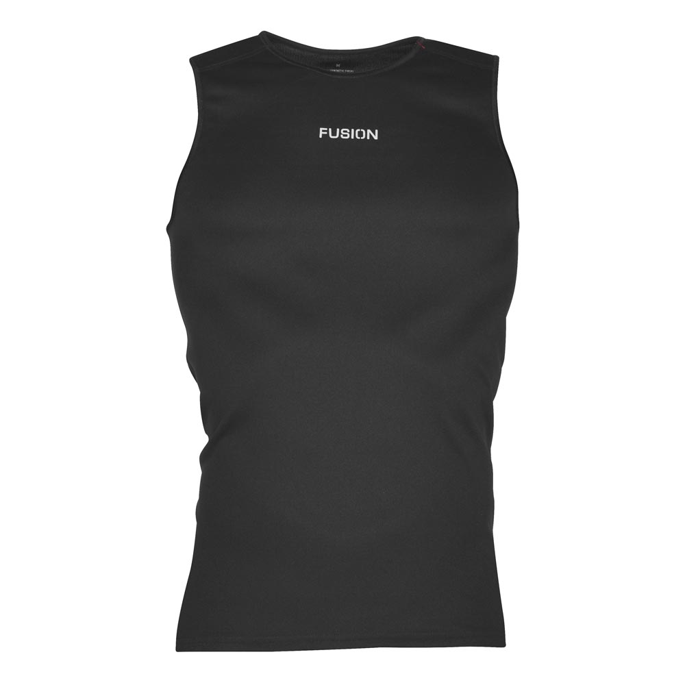 Fusion Nova Torso_Front_Colour: Black_Base Layer_Cycling_Running