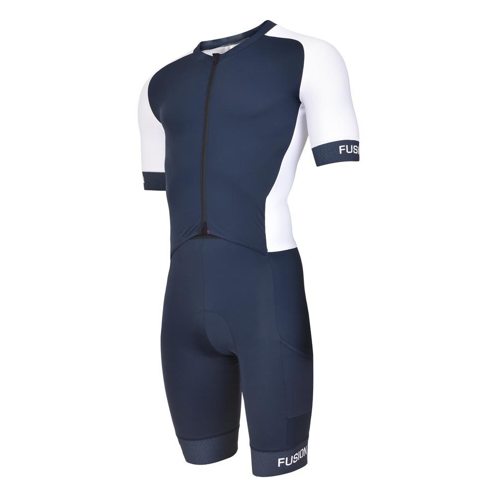 Fusion Speed Suit V2_Sleeved Tri Suit_Colour: Black