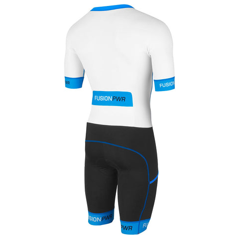 Fusion Speed Suit (NRG)_Sleeved Tri Suit_Colour: White/Surf
