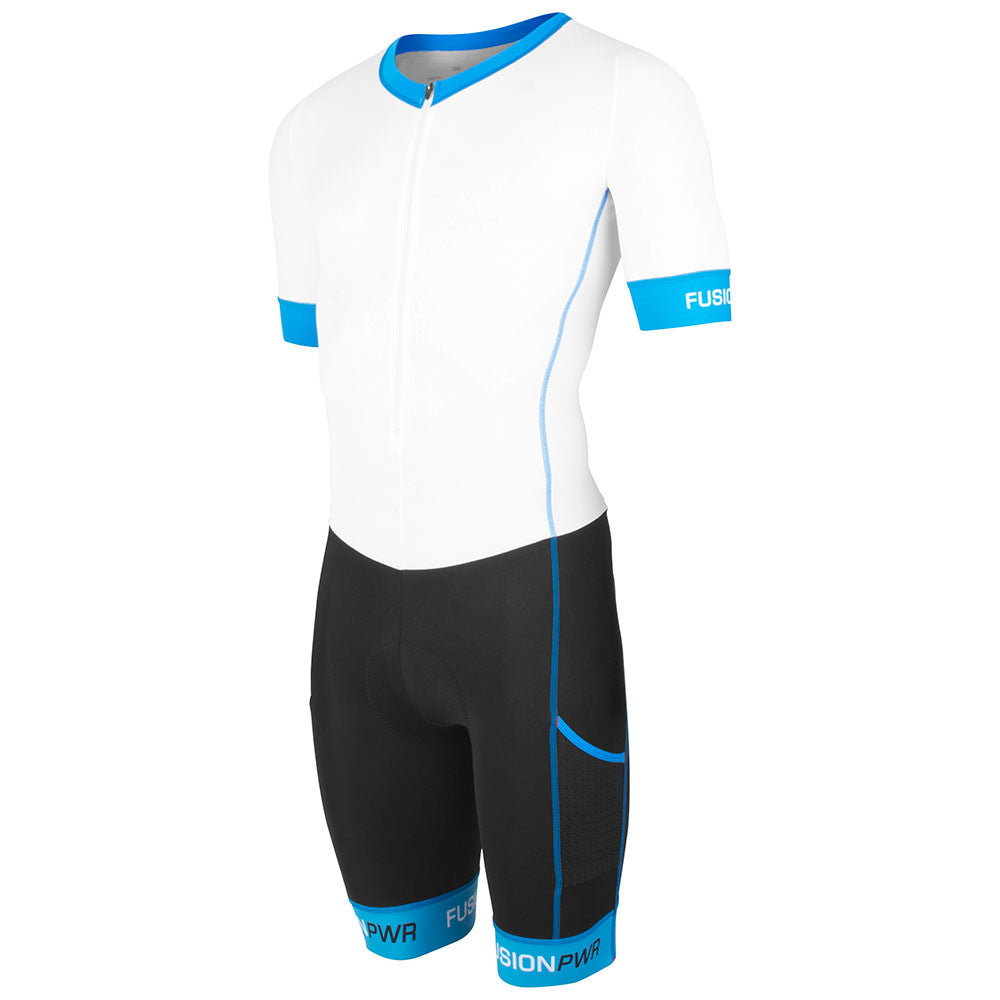 Fusion Speed Suit (NRG)_Sleeved Tri Suit_Colour: White/Black