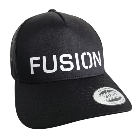 Fusion Trucker Cap_Colour: Black