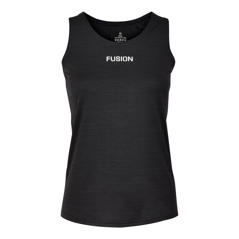 Fusion Womens C3 Singlet_Colour: Black