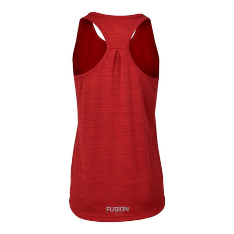 Fusion Womens C3 Singlet Training Racer Back_Colour: Red