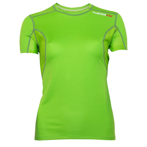 Fusion Womens PRF Short Sleeve Running Shirt_Colour: Green