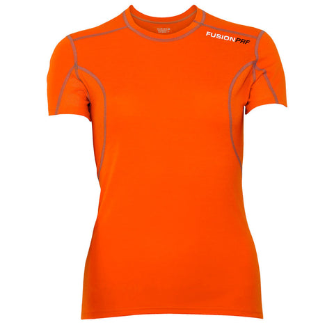 Fusion Womens PRF Short Sleeve Running Shirt_Colour: Orange