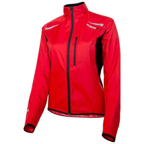 Fusion S1 Women's Shell Jacket_Running Cycling_Colour: Red
