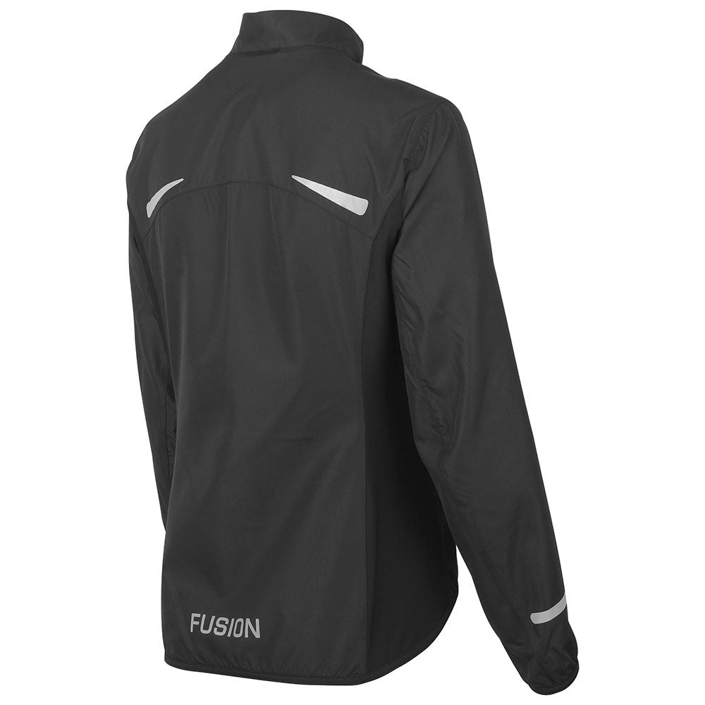 Fusion S1 Women's Shell Jacket_Running Cycling_Colour: Black