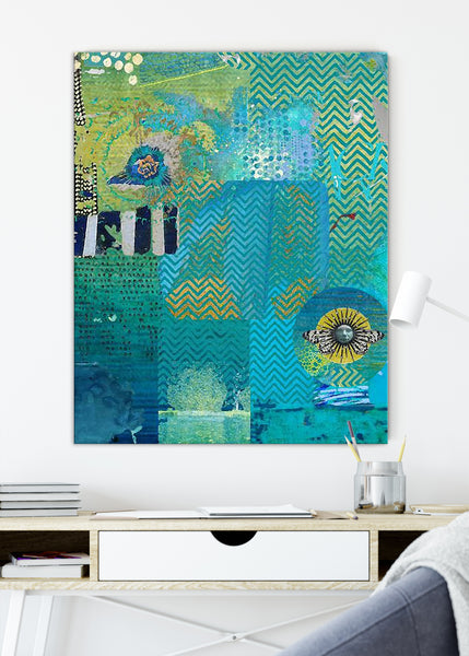 Blue Heaven Abstract Art by Sheree Burlington