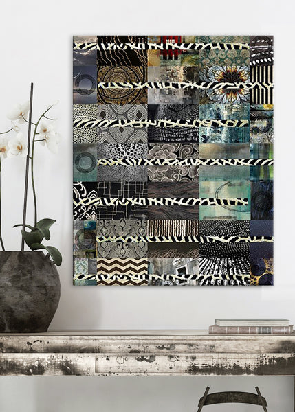 Black Quilt Abstract Art by Sheree Burlington