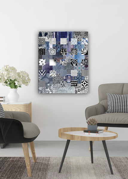 Blue Quilt Abstract Art by Sheree Burlington