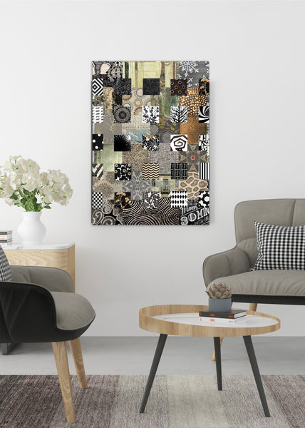 Bronze Quilt Abstract Art by Sheree Burlington