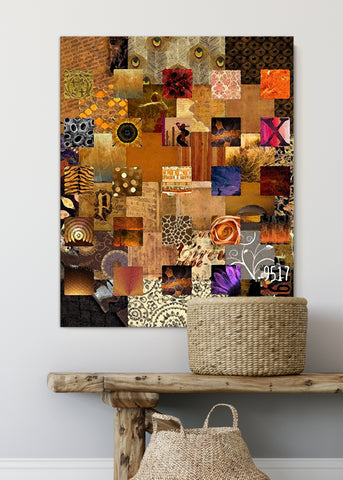 Bronze Squares Abstract Art by Sheree Burlington