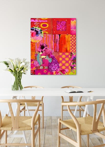 Carnival Abstract Art by Sheree Burlington