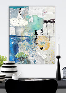 Cloudless Abstract Art by Sheree Burlington