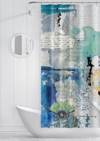 Cloudless Designer Shower Curtain by Sheree Burlington