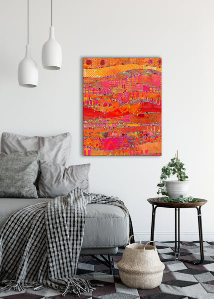 Firewalk Abstract Art by Sheree Burlington
