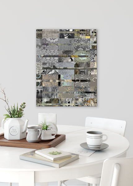 Grey Quilt Abstract Art by Sheree Burlington