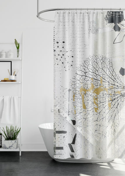 Hydrangea Designer Shower Curtain