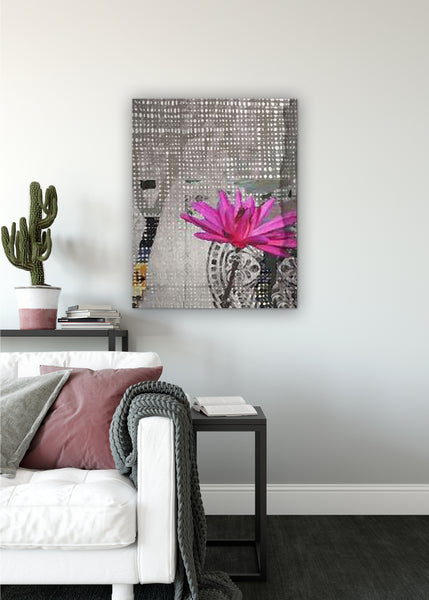 Lotus Abstract Art by Sheree Burlington