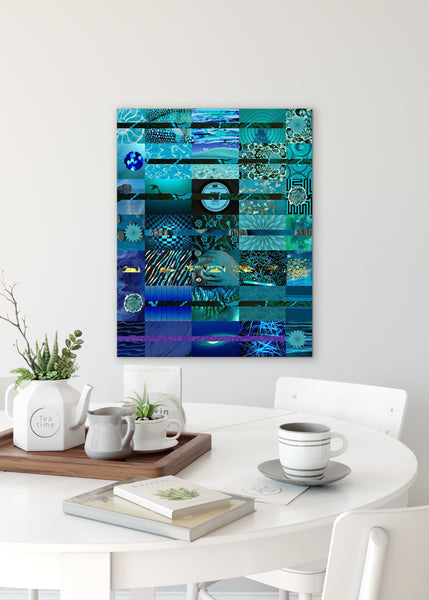 Midnight Abstract Art by Sheree Burlington