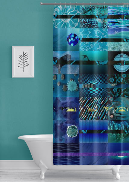 Midnight Designer Shower Curtain