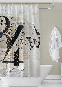 Numero Designer Shower Curtain
