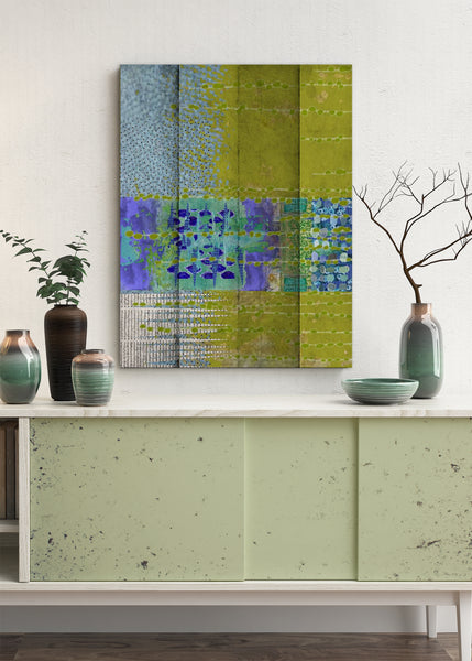 Olive Abstract Art by Sheree Burlington