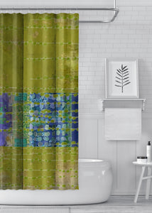Olive Designer Shower Curtain