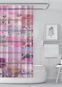 Pink Quilt Designer Shower Curtain