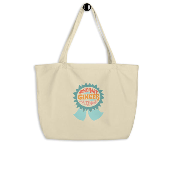 Honorary Ginger (the tan one), Large organic tote bag