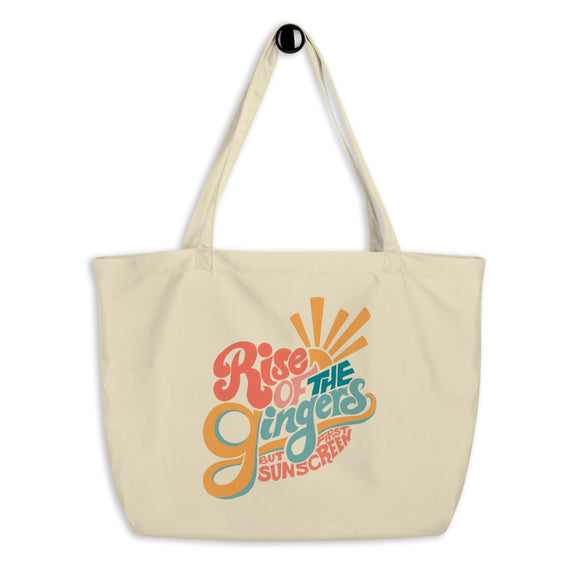 Large Rise of the Gingers Organic Tote Bag