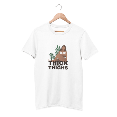 T-Shirt Féministe<br> Thick Save Lives Thighs