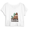Crop Top Féministe <br> Thick save lives thighs