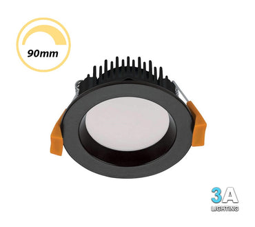 3A 13W LED Dimmable Downlight CCT Recessed Black DL1570BK