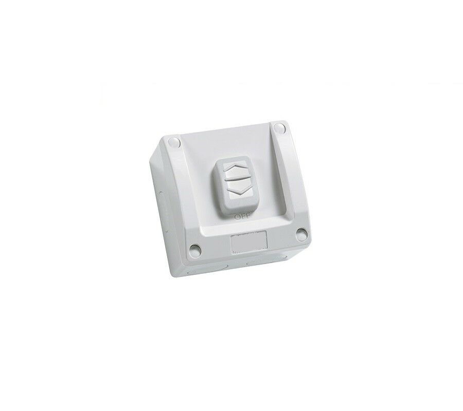 3A AU Single Weatherproof Light Switch