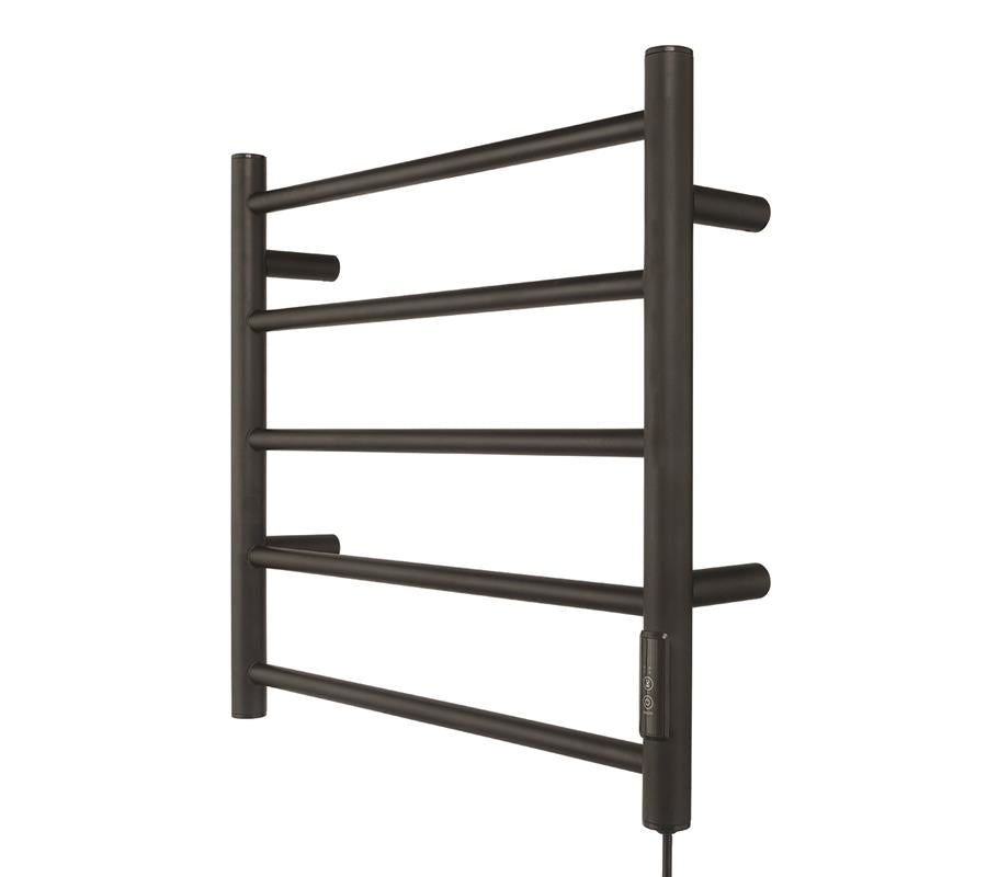 Heated Towel Rail Black Hidden Wiring