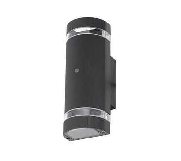3A Oval Up & Down Wall Light Black