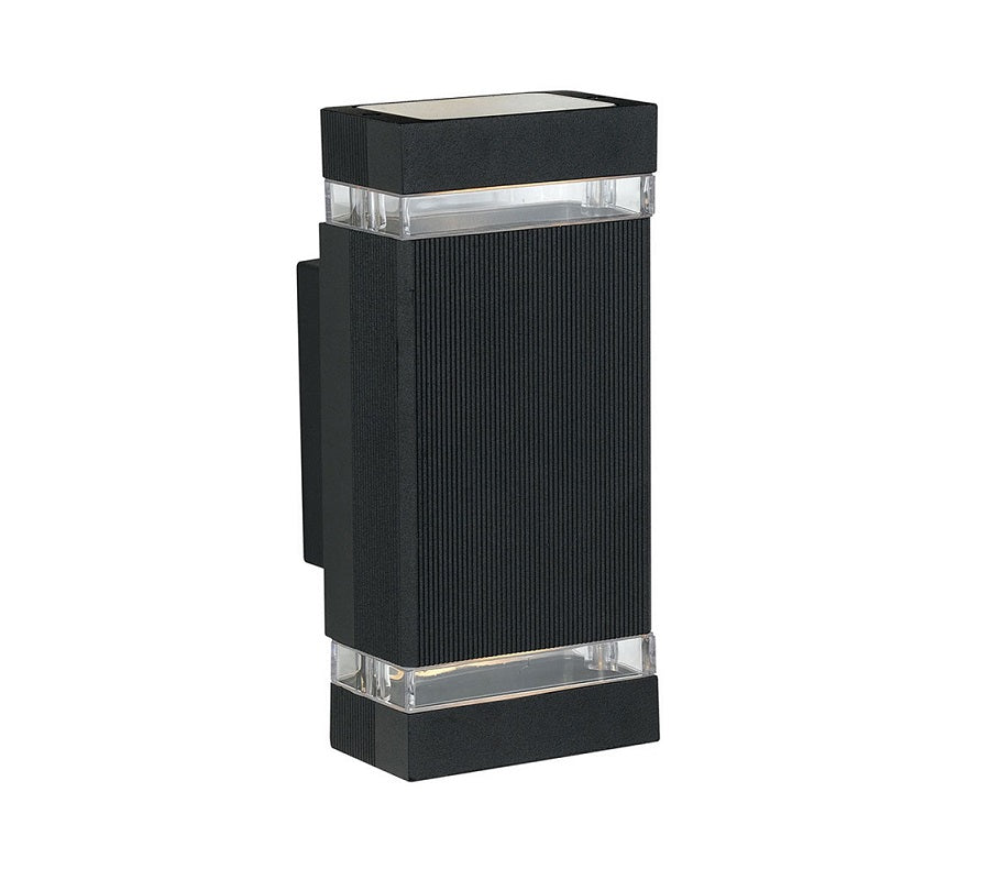 3A Rectangular Up & Down Wall Light Black